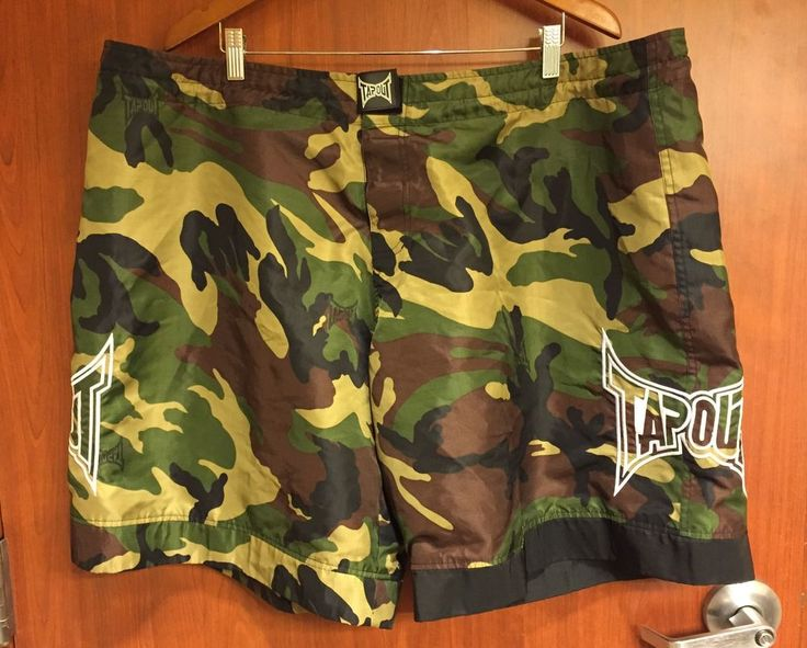 ☀Tapout MMA Mens Camo Shorts☀Trunks Athletic Sports Fightwear Workout Gear 44  | eBay