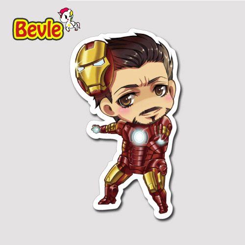 Bevle 9634 Marvel Мститель Супер Железный Человек Наклейки на Ноутбука Водонепроницаемый Прилив Мультфильм 3 М Стикер Холодильник Скейтборд Автомобилей Граффити