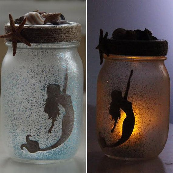 Mermaid Jars  Small by NixiesPixies on Etsy