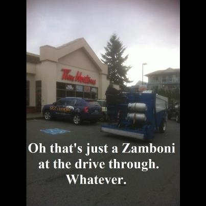 The fact that the Tim Hortons in this picture is the one in Comox makes my day!