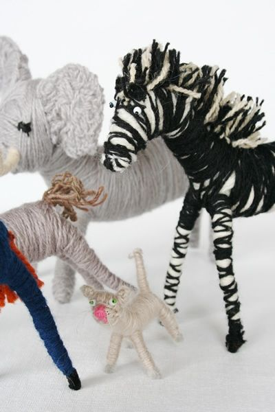 yarn animals. mary rowe