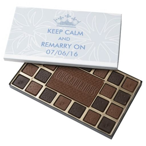 Wedding Vows Renewal Keep Calm Personalized 45 Piece Assorted Chocolate Box