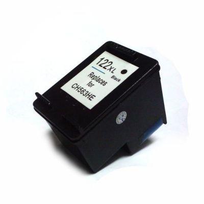 Cartucho de Tinta HP 122XL CH563HB Preto Compatível 12mls  Volume de Tinta: 12ml - Para uso nas impressoras: HP DESKJET 1000, 1050, 1055, 2000, 2050, 3000, 3050