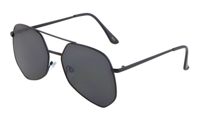 Geometric Large Aviator Sunglasses Mod Metal Frame