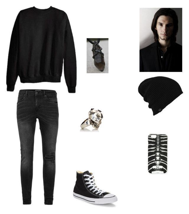 """Adrien, 15, Son Of Hades"" by thedeadlysin ❤ liked on Polyvore featuring Topman, Hanes, Converse, Alexander McQueen, Burton, Marcelo Burlon, men's fashion and menswear"