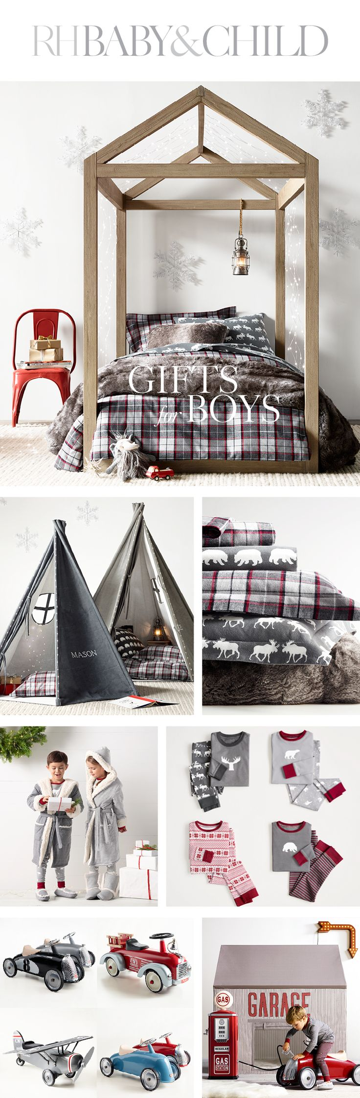 Make your little one's dreams come true with an array of wondrous holiday gifts for boys from RH Baby & Child.