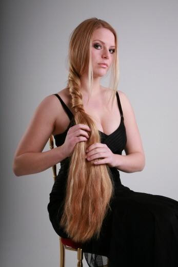 thick blonde hair