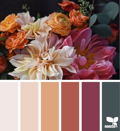 flora palette This is the a lovely, sophisticated color scheme for a bedroom.