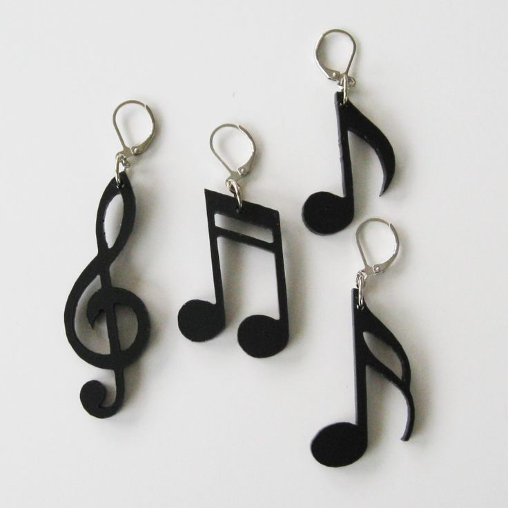 Örhängen, noter i plexiglas Earrings, notes made of plexiglass