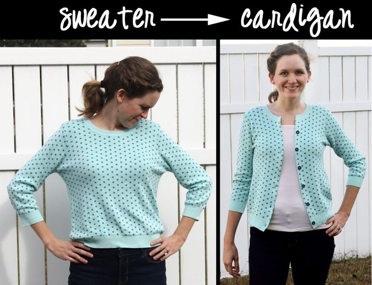 How to Turn an Old Sweater into a Stylish Cardigan