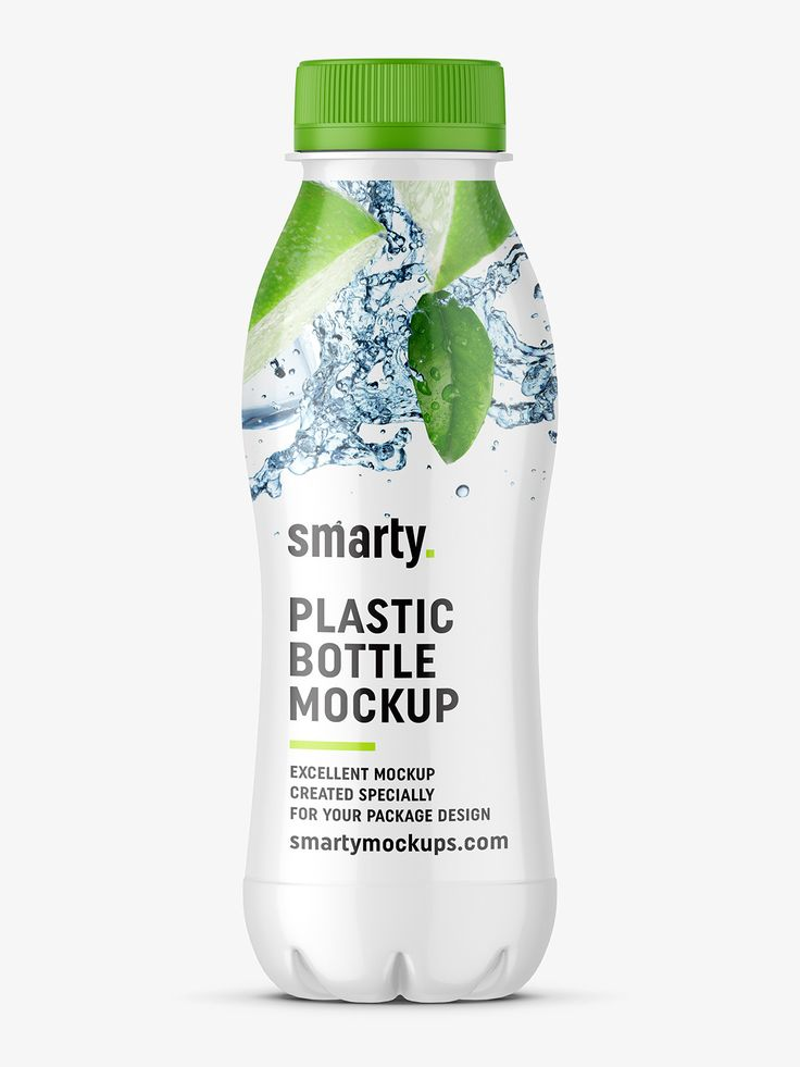 Dairy - plastic bottle mockup