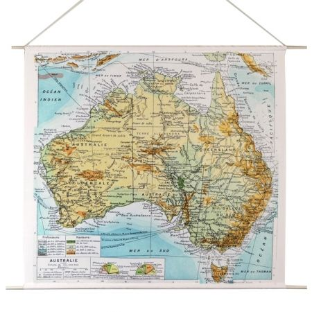 Australian Map Canvas Wall Hanging - hardtofind.