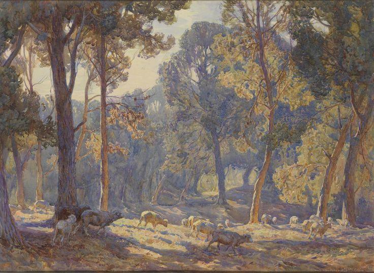 Hans Heysen (1877-1968) - Midsummer Morning, 1908