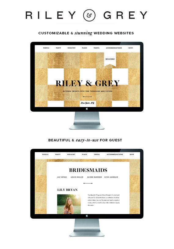 Riley and Grey luxury wedding websites (wedding website examples, designs, templates, wedding app, invitation, save the date)