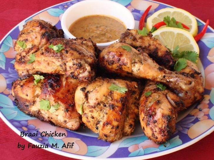 {MADE} Braai Chicken - used 1 red chilli, 3 tbsp lemon juice, used white vinegar, 1/2 tsp lal mirchi, 1 tsp salt, baked at 400°F for 40-50 minutes.
