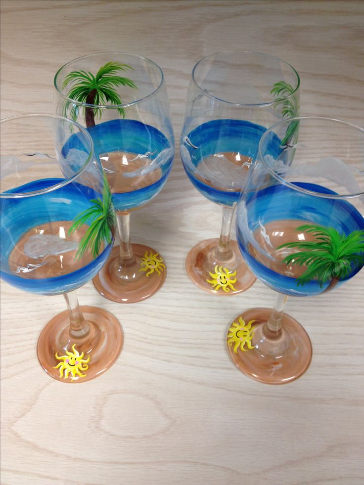 A guided wine glass painting class is a fun activity for your visit at Clement's Lake Erie Cottages.  Ask me for an instructor recommendation -- in-home classes available.  www.clementslakeeriecottages.com