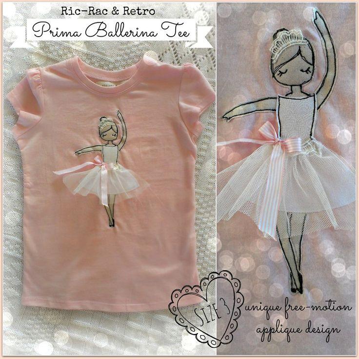 applique ballerina by Ric Rac & Retro