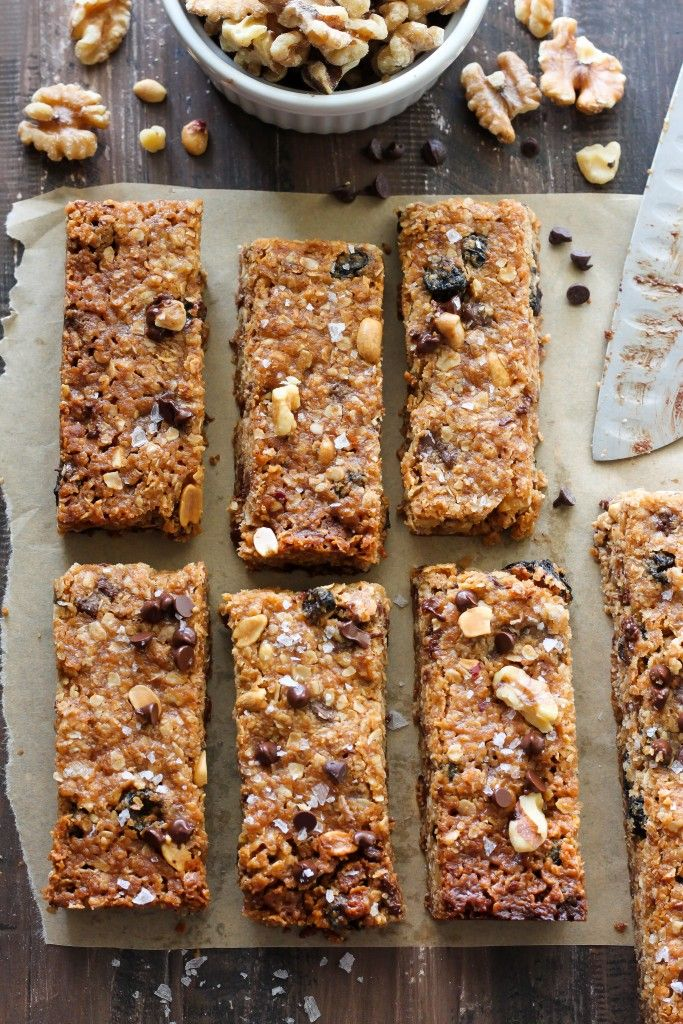 Sweet and Salty Chocolate Peanut Butter Granola Bars