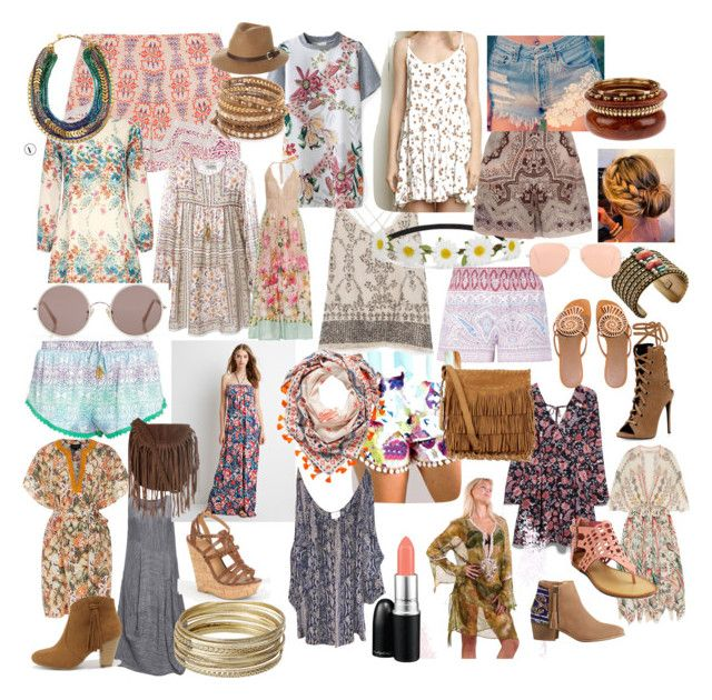 bohemian style2 by elenilor on Polyvore featuring Forever 21, Yumi, Yves Saint Laurent, Saloni, Parker, MANGO, Etro, GRIZAS, Emamò and Zara