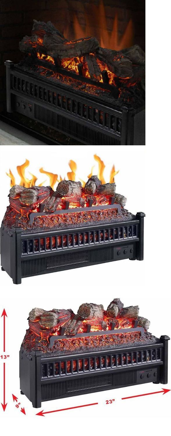 New classic flame electric fireplace inserts make an existing chimney - Decorative Logs Stone And Glass 38220 Electric Fireplace Logs Heater Realistic Flame Hearth Insert Wood