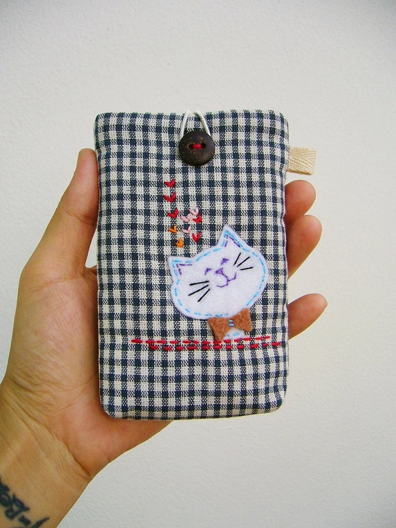 Phone case Cell phone case cell phone sleeve phone by DooDesign, $14.00