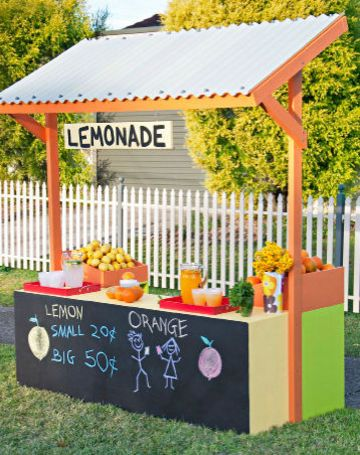 Lemonade stand: Lemonade Stands For Kids, Kids Lemonade Stands, Kids Diy, Cold Lemonade, Diy Lemonade, Fun Projects, Summer Fun, Diy Drinks For Kids, How To Make A Lemonade Stands
