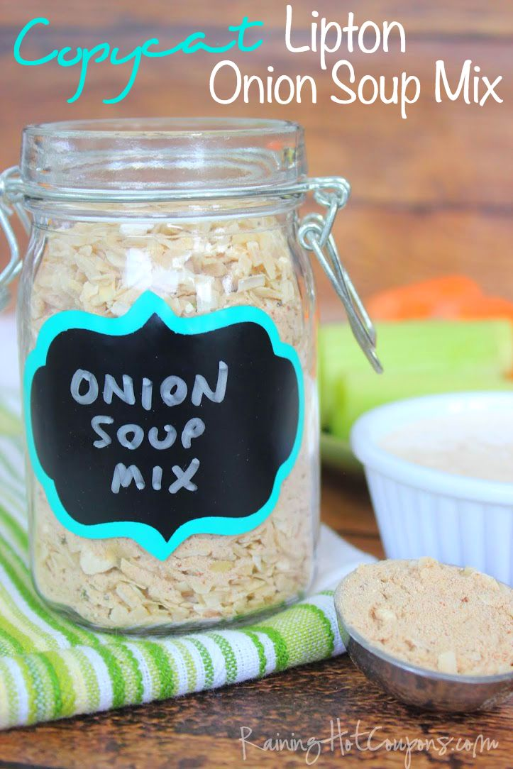 Copycat Lipton Onion Soup Mix *Get more RECIPES from Raining Hot Coupons here* *Pin it* by clicking the PIN button on the image above! Repin It Here You know that really yummy Onion Dip you can dip Ruffle chips in?! Well, it's made out of Sour Cream and Onion soup mix and is one of my …