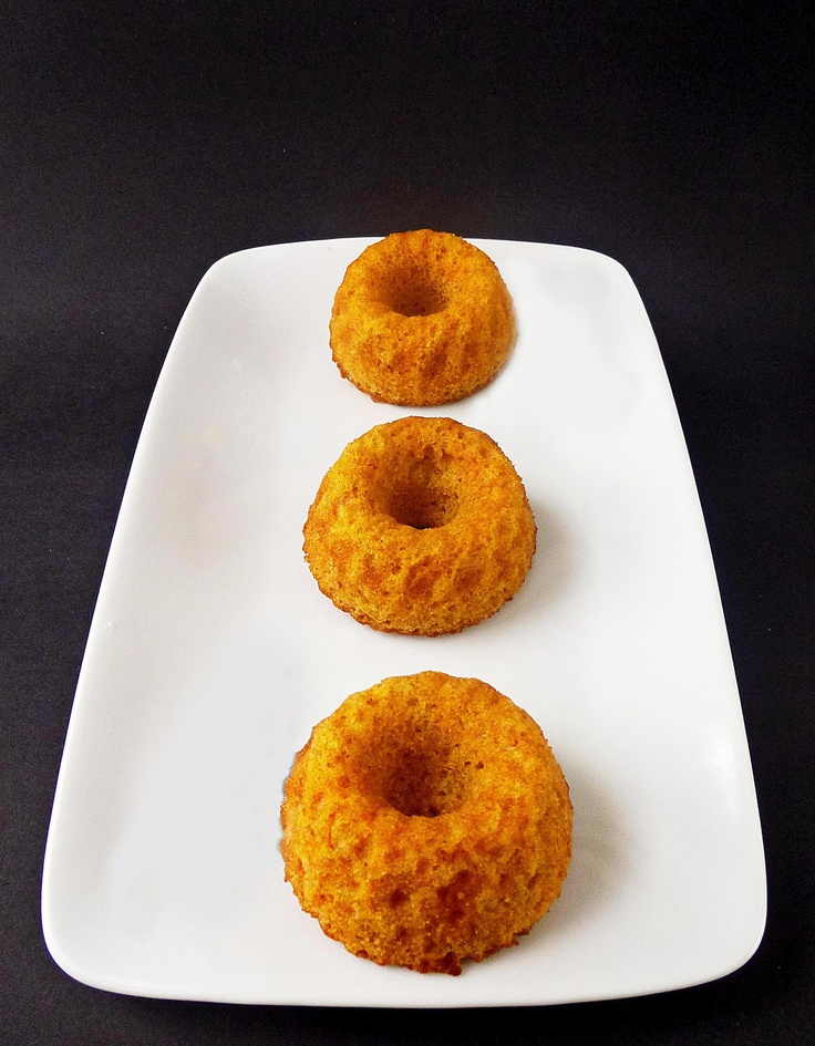 Integral Pumpkin Mini Bundt - Bizcochitos Integrales de Calabaza/RECETINES ASGAYA