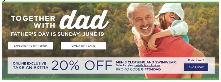 #FathersDay $10 Off $40+ Men's Apparel, Gifts, Fine Jewelry, And Watches. #Kohls Details & Exclusions: Take $10 off your men's apparel, gifts, fine jewelry, and watches purchase of $40 or more. Some exclusions apply. Expires on 06/19/2016.