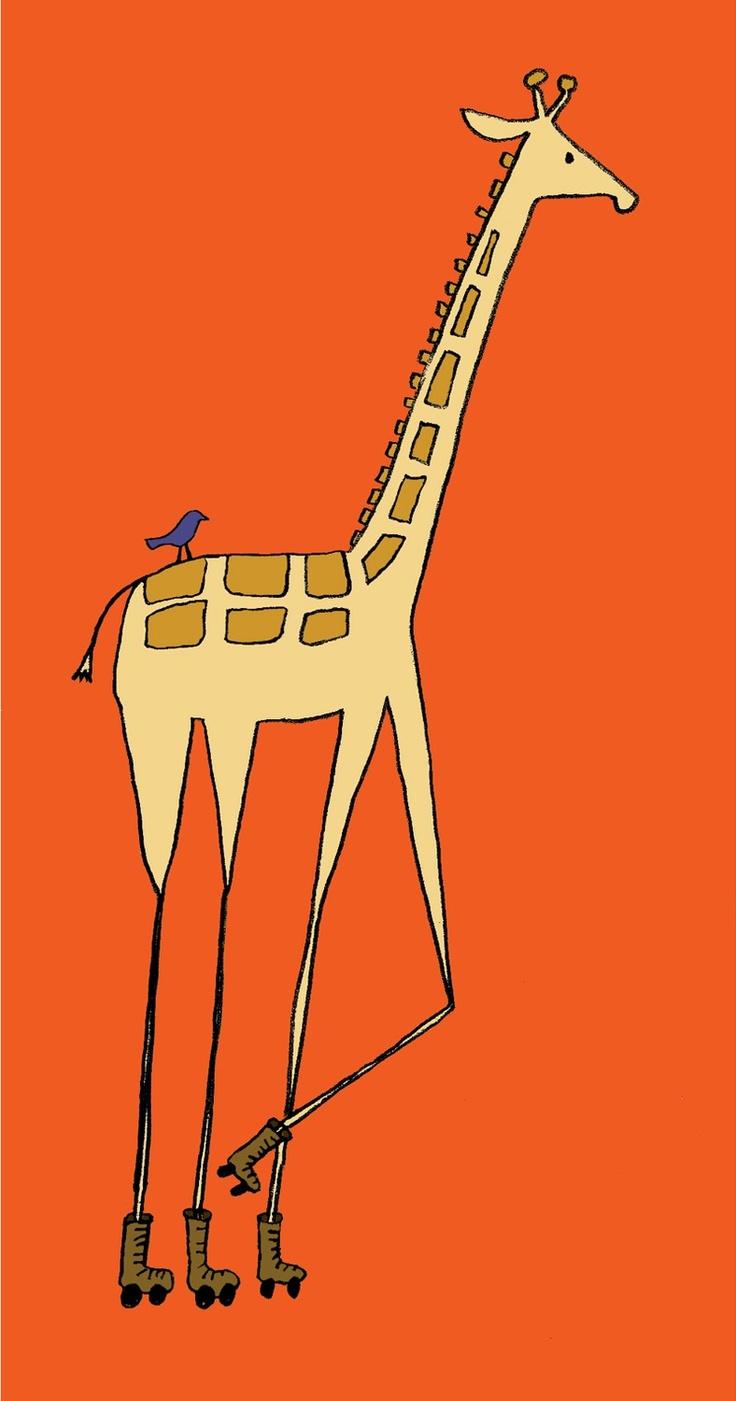 Girafa amb banyes arrodonides per no fer mal a la lluna...