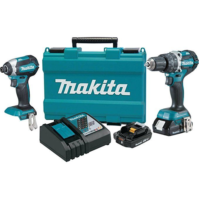 Makita Xt269r 2 Amp 18v Compact Lxt Lithium Ion Brushless Cordless Combo Kit 2 Piece Review Combo Kit Drill Driver Cordless Power Tools