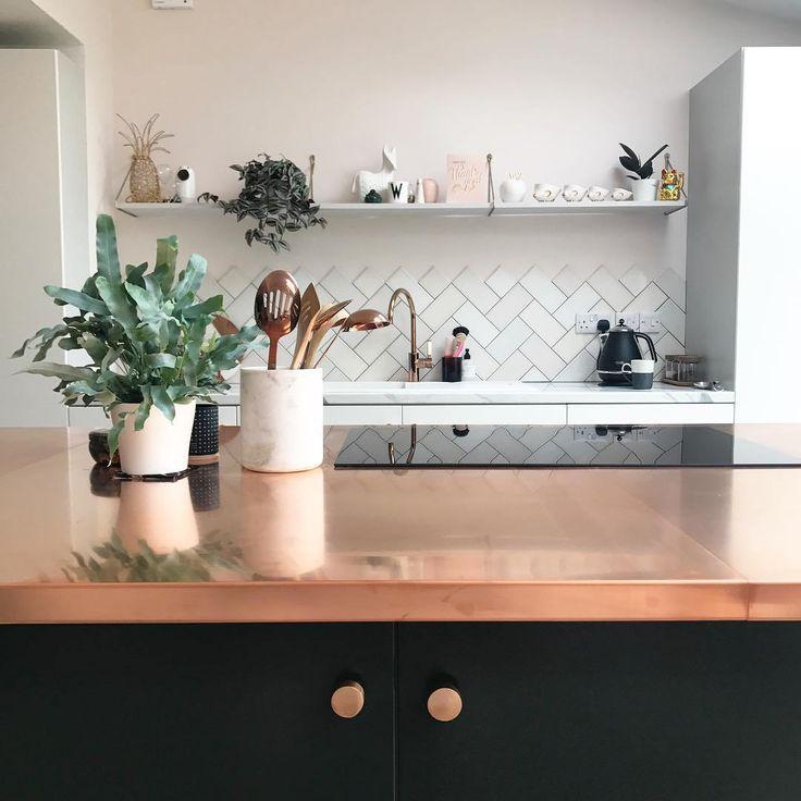 Copper kitchen worktop copper kitchen decor diy kitchen
