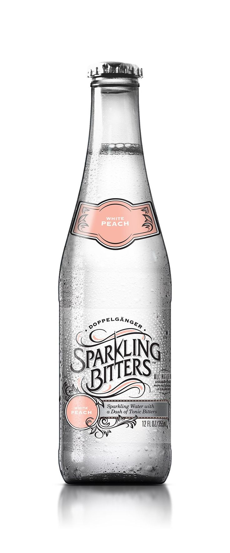 Sparkling Bitters Water, White Peach