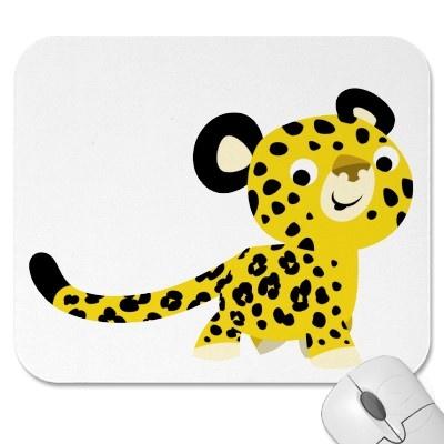 Leopardo amistoso Mousepad del dibujo animado lind