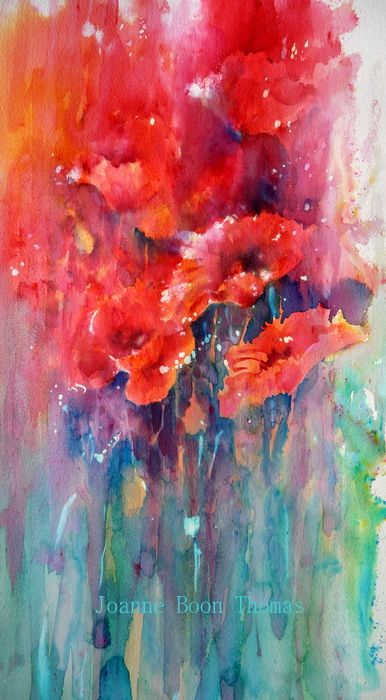 Tall Poppies Brusho Joanne Boon Thomas                                                                                                                                                                                 More