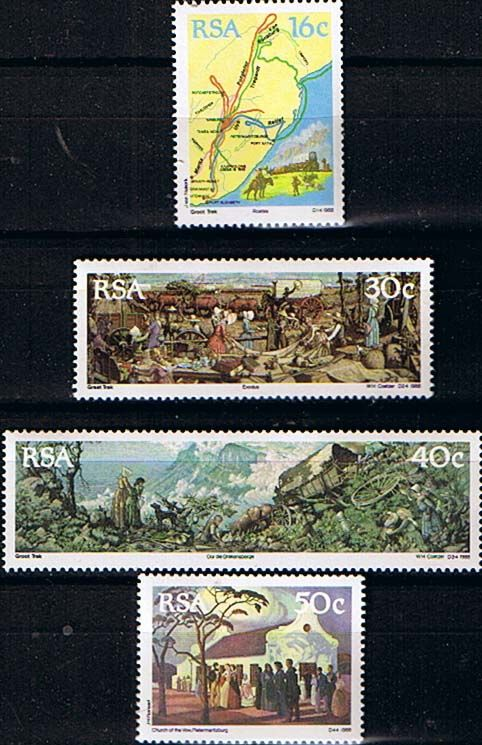 South Africa 1988 The Great Trek Set Fine Mint                    SG 637 40 Scott 758 61          Condition Fine MNH    Only one post charge applied
