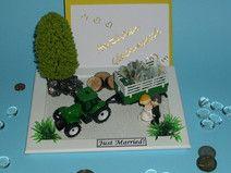 Geldgeschenk Hochzeit Brautpaar Traktor Landwirt
