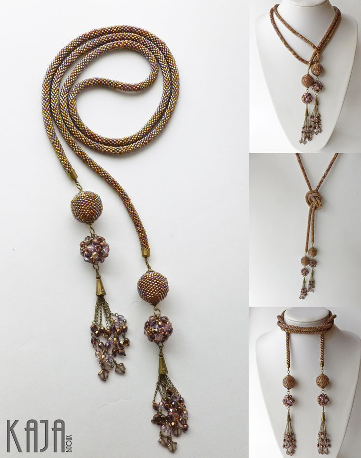 Lariat - bead crochet