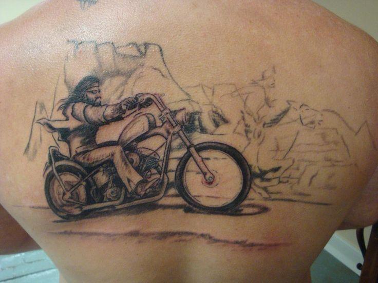 Old school biker tattoo designs biker david manns 39 ghost for Disc golf tattoos