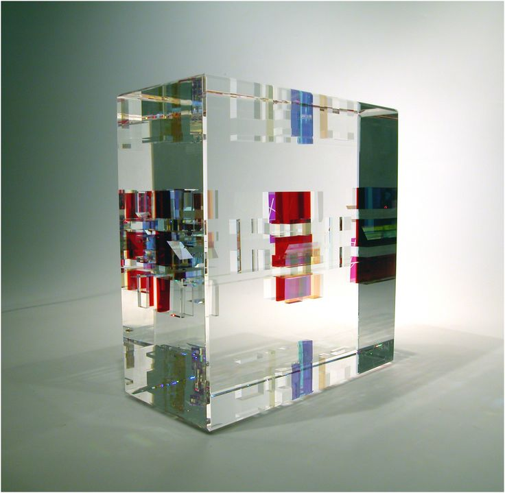 Toland Sand Glass Studio ~ Optical Float (2006) 6x6x3