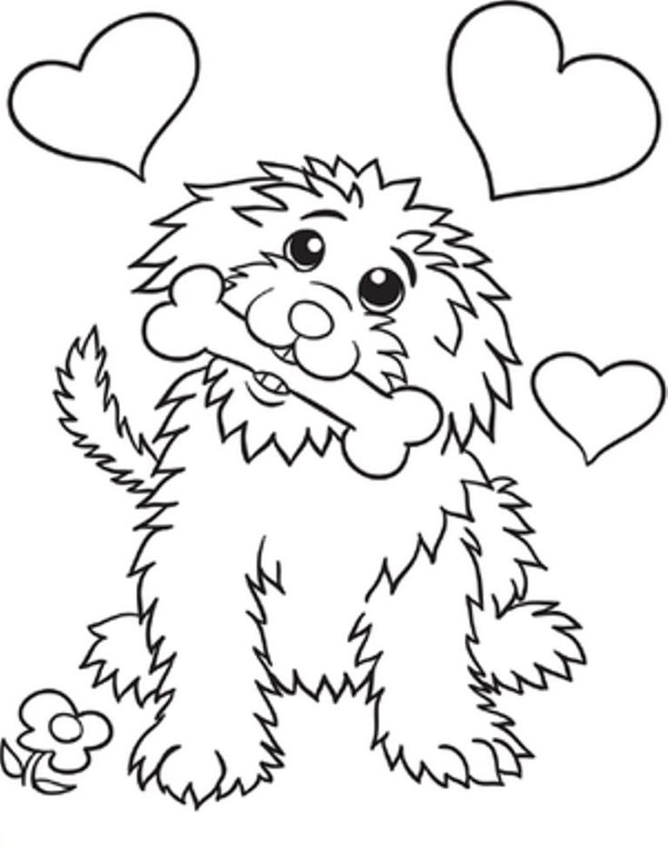 Cute Dog Coloring Pages #dogcoloringpages #