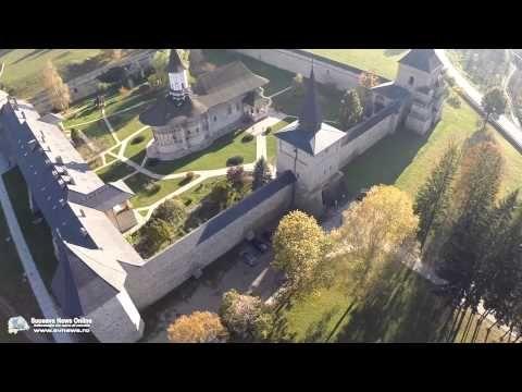 Mănăstirea Suceviţa, DN17A, Sucevița, Județul Suceava, România | Dronestagram