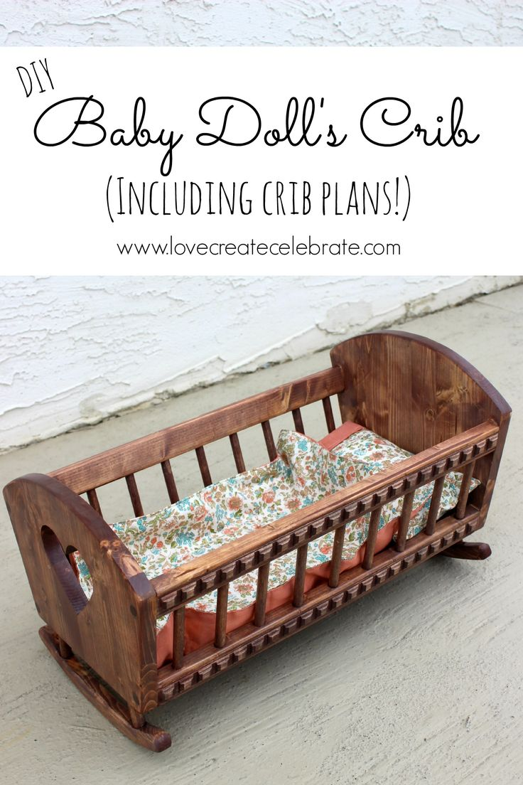 Baby cribs unfinished wood - Baby Doll S Crib