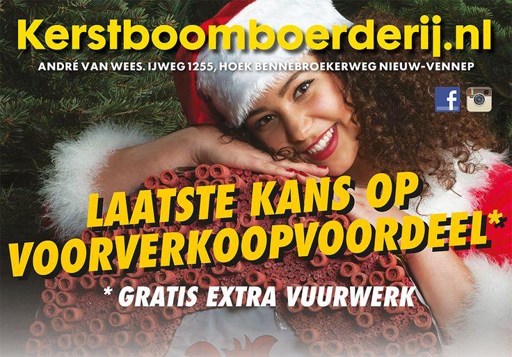 Laatste kans op voorverkoopvoordeel, bij je online bestelling! www.kerstboomboerderij.nl  #vuurwerk #andrevanwees #voorverkoop #voordeel