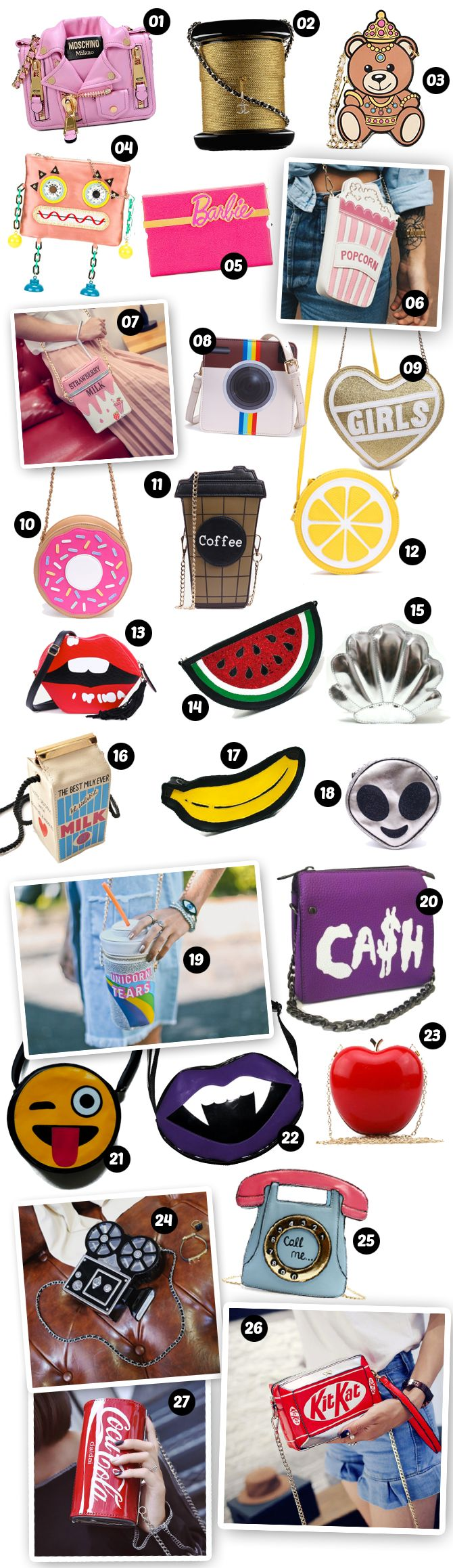 Bolsas coloridas e muito divertidas para usar e abusar nos looks desse verão!