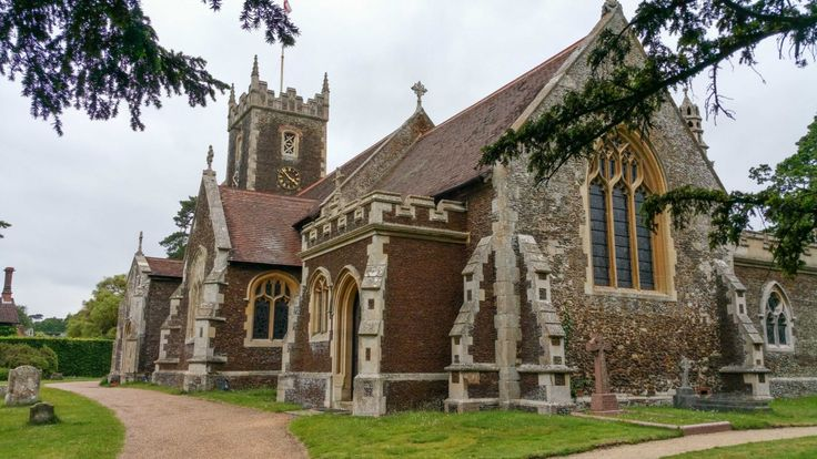 The St Mary Magdalene Church near the Sandringham Estate, where the christening of Princess Charlotte will take place on Sunday July 5th 2015