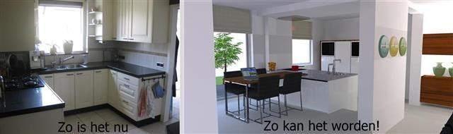 3D impressie ter bevordering van de verkoop van een woning in Zevenbergen.