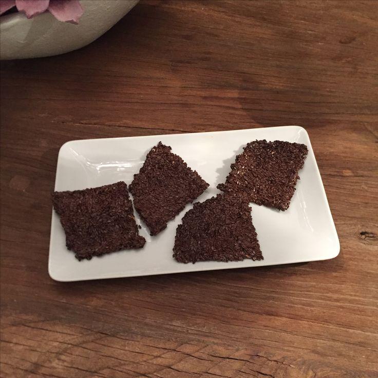 Zelfgemaakte crackers naar recept van @puurpower