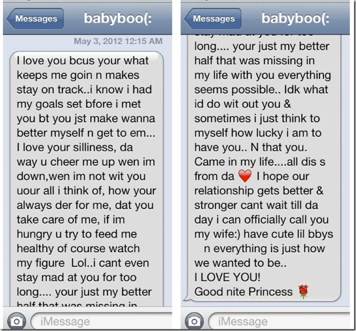 Short or long good night text