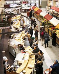 Eataly, the vast Turin food market, has more than 250 kinds of artisanal cheeses and acres of handmade pasta.